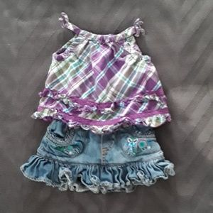 The Children's Place Top and Skirt 3-6 Mos